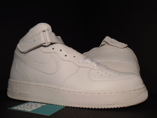 2018 NIKE AIR FORCE 1 MID WHITE 306352-113 NEW 13 New shoes for men and women, limited time discount