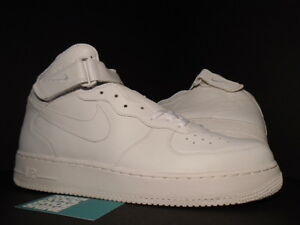 Image is loading 2005-NIKE-AIR-FORCE-1-MID-WHITE-306352- 97a0d3450