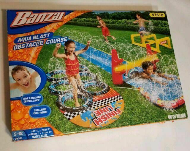 Banzai Aqua Blast Obstacle Course Water Slide For Sale Online Ebay