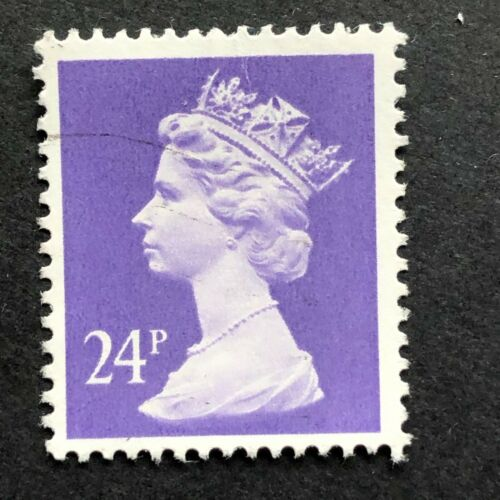 Lot of 100 UK QEII Machin Stamps Purple 24p Art Craft Decoupage Collage Collect
