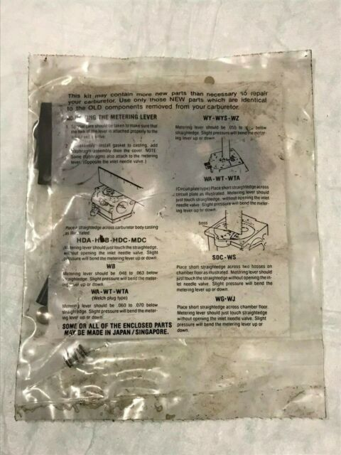 READ Vintage NOS McCULLOCH chainsaw Double Eagle 80 MAC OEM major carb kit