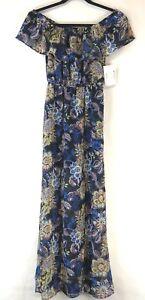 7a43cd04891 Sequin Heart Junior s Off the Shoulder Floral Print Dress Size XS ...
