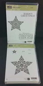 Stampin' Up! BRIGHT & BEAUTIFUL (Clear Mount) Christmas Stars Joy Noel New Year