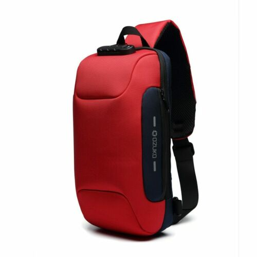 Bags Waterproof Short Trip Chest Bag Pack Anti-theft Backpack With 3-Digit Lock