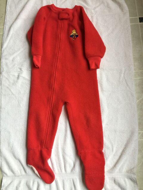 3474cffbd5 EDEN TOYS PADDINGTON BEAR boy 3T Red footie pj blanket sleeper football VTG  USA