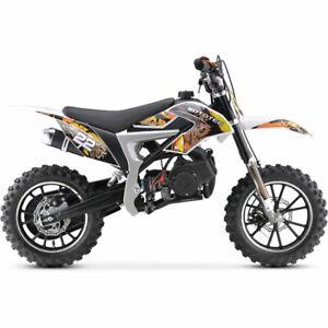 MotoTec-50cc-Demon-Gas-Dirt-Bike-Yellow-Kids-Top-Speed-25-mph-13-NON-CA