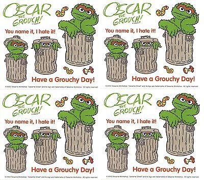 Sesame Street Oscar The Grouch Grouchy Scrapbook Stickers 4 Sheets Ebay