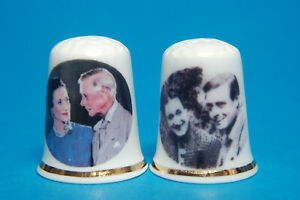 Edward-VIII-amp-Mrs-Simpson-039-A-Royal-Love-Story-039-Set-of-2-China-Thimbles-B-140