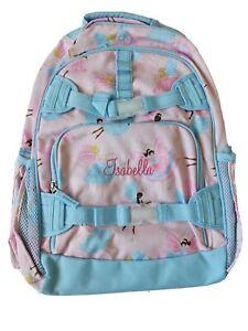 New Pottery Barn Kids Girls Large Backpack Monogram