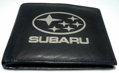 Subaru Logo Leder Geld Tasche Börse Geldbeutel Geldbörse Oldtimer Youngtimer Top