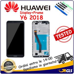 Pantalla-Tactil-Vidrio-LCD-Display-Frame-para-Huawei-Y6-2018-ATU-L11-ATU-L21