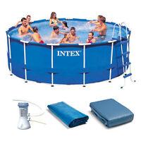 Intex 15' X 48 Metal Frame Swimming Pool Set W/ 1000 Pump | 28235eh on sale
