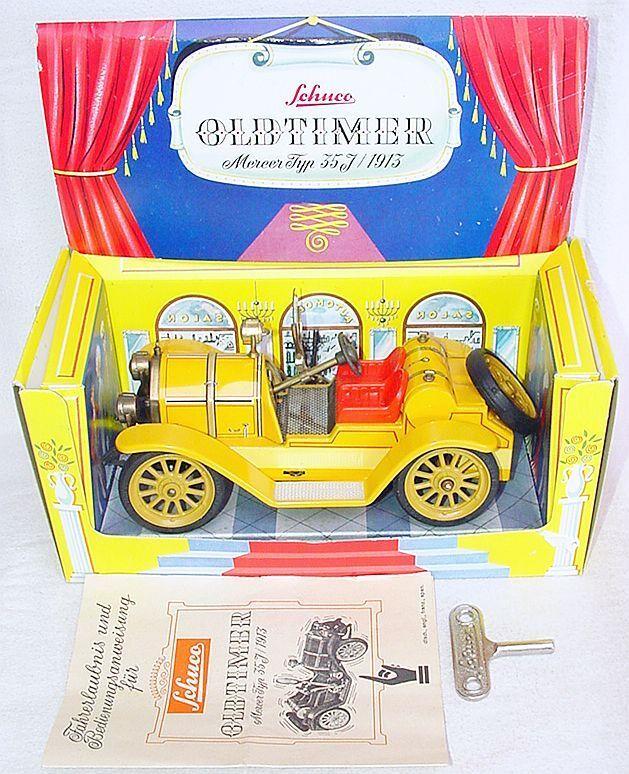 Schuco Germany MERCER TYPE 35J OLDTIMER Tin Toy Wind-Up Car  1225 A MIB`82 RARE