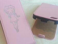 Iphone 5 Betty Boop De Cuero Original Rosa Flip Phone Funda Cinco Apple
