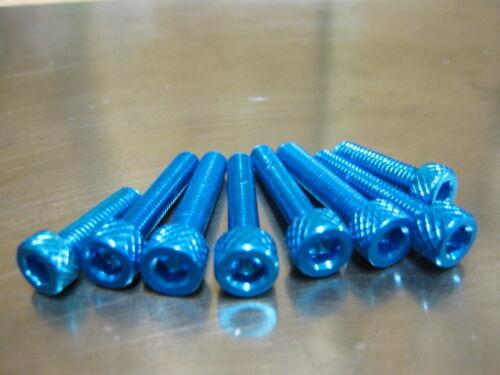 blau eloxiert für Kawasaki Z 1000 ZR 1000 ab 2003 Schraubensatz Tankdeckel