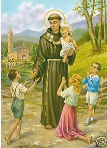 Catholic-Print-Picture-ST-ANTHONY-039-s-BREAD-Unique-Ready-to-be-framed
