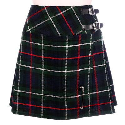 Mackenzie Modern Mini Tartan Billie Kilt With Kilt Pin Scottish 6-22uk