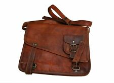 Genuine Leather Handmade Brown Messenger Shoulder Bag Vintage Tablet Satchel