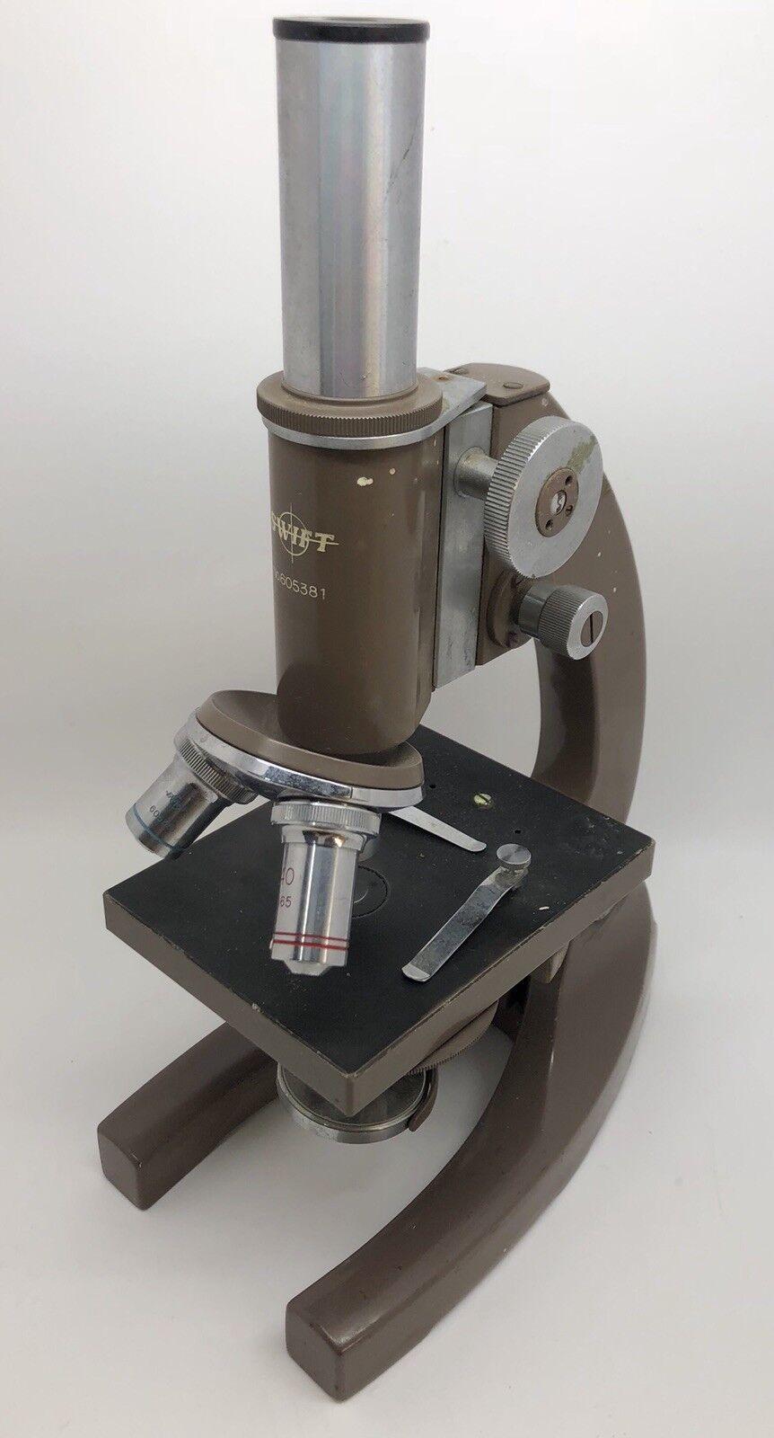 Vintage - swift. 605381 student mikroskop 4x 10x 40x... wie (rf897)