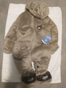 Carter-039-s-SnowSuit-24-months-Outnabout-Pram-Beige-with-Dark-Brown-Trim-NWT