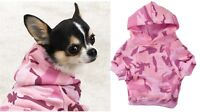 Pink Camo Dog Hoodies Cute High Quality 100% Cotton Kangaroo Pocket Sweatshirt