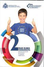 2 EURO COMMEMORATIVO SAN MARINO 2012 10° Anniversario EURO