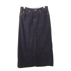Eddie-Bauer-Corduroy-Skirt-Women-039-s-Size-4-Petite-Solid-Brown-Modest-Stretch