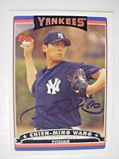 CHIEN-MING WANG signed RC YANKEES 2006 Topps baseball card AUTO Autographed #87