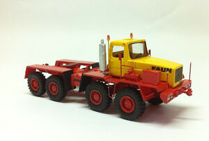 HO 1/87 FAUN HZ 46.40/49 8X8 TRACTOR – DDR 1975 - Ready Made Resin Model