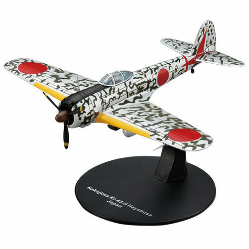 """4 Details about  /Die Cast /""""Nakajima Ki-43 Hayabusa/"""" W.W.II Aircraft Collection Fighter 1//72"""