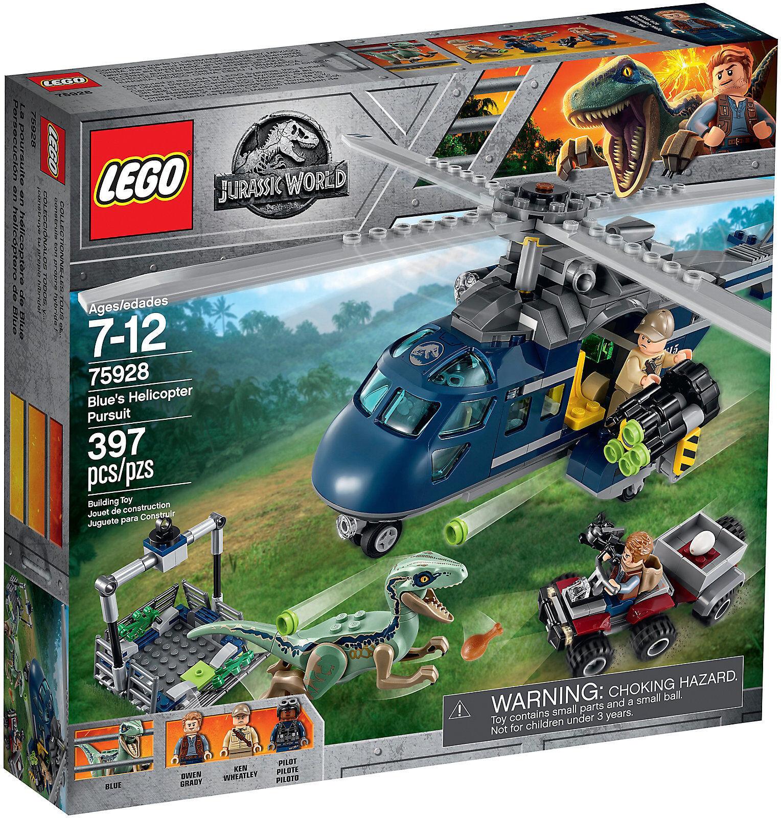Lego Jurassic World 75928 Inseguimento sull'elicottero di blu Owen Wheatley