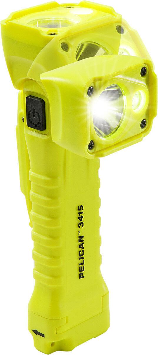 Pelican giallo 3415M Right Angle Flashlight with plastic clip - Magnet
