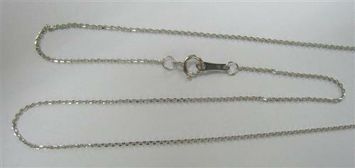 46cm Genuine 9K 9ct 375 Solid White Gold Chain Necklace - 18 Inch
