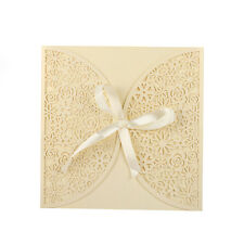 12PCS Personalized Wedding Invitation Cards & Bowknot and Envelopes & Seals