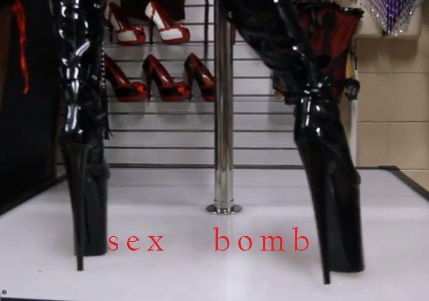 Sexy bottes jusqu'à cuisse Lacets Talon 25 plateau plateau plateau de 35 To 39 fashion glamour 02cf4f