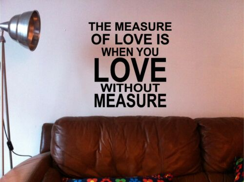 The Measure of love wall art sticker decal kitchen lounge bedroom