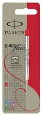 Parker Quinkflow Ball Pen Ballpoint Refill Ink Medium Red Blister Pack S0909570