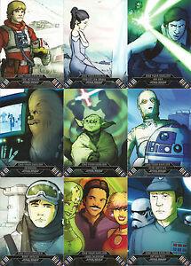 Star-Wars-Illustrated-Empire-Strikes-Back-MINI-MASTER-CARD-SET-Base-Inserts