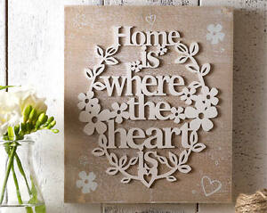 home is where the heart is wall plaque rustic wooden sentiment