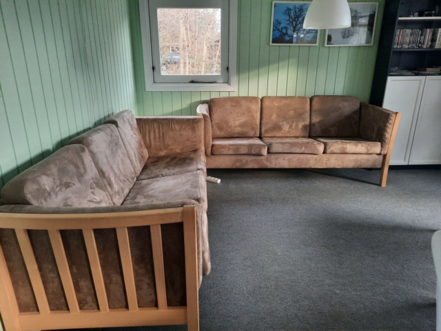 Sofa, 3 pers., To sofaer, 150kr for én, 200kr for begge