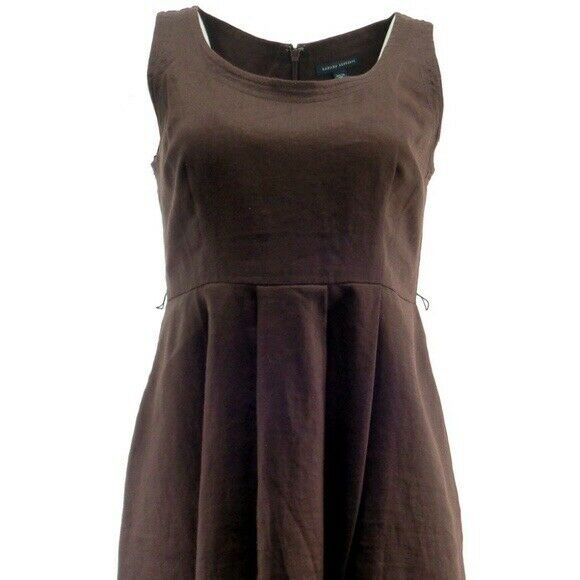 Womens Banana Republic Brown Linen Dress Size 10