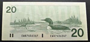 CANADA-20-DOLLARS-1991-EWB7436347-4-DIGITS-RADAR-AU-BC-58d