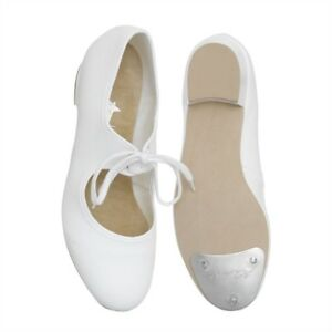 New WHITE CANVAS Low Heel Tap Shoes