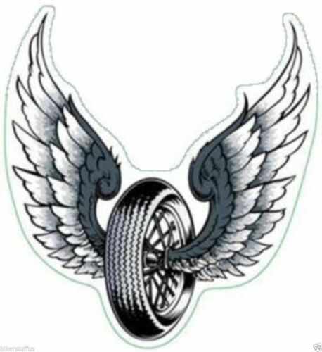 FLYING WHEEL CHP POLICE MOTORCYCLE TOOLBOX CAR BUMPER DECAL STICKER USA MADE