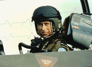 """PRINCE CHARLES """"Flying a Jet"""" - Original 35mm COLOR Slide"""
