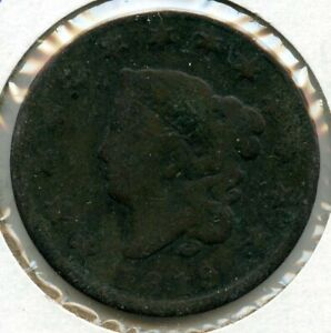 1819 Coronet Head Large Cent Penny - Small Date - BG313