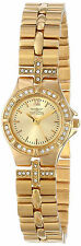 Invicta Gold Oro Pulsera Reloj Woman Mujer Crystal Bracelet Hand Band Steel Case