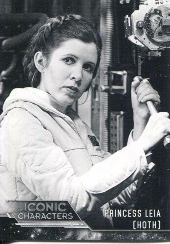 Star Wars ESB Black /& White Iconic Characters Chase Card IC-18 Princess Leia