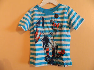 NWT Baby GAP toddler short sleeve Capt. America comic book style T-shirt 5T