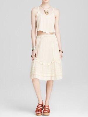 Free People Calida Crop Top and Midi Skirt Set NWT -Sz M.  ($168)